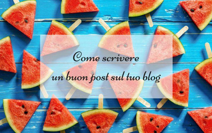 scrivere un post sul blog